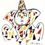 """Disegno per """"I clowns"""": il clown bianco, Cineteca comunale, Rimini"""