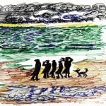 """Disegno per """"I vitelloni"""":  al mare, Cineteca comunale, Rimini"""